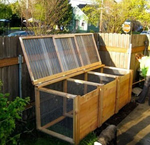 going green diy compost bin
